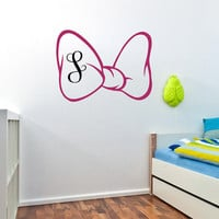Monogram Wall Decal- Personalized Initial Name Decal- Girls Name Decal- Nursery Name Decal- Kids Baby Nursery Girls Room Playroom Decor 0091