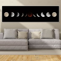 canvas painting wall art pictures art print moon on canvas and poster no frame wall art Painting decoration for living room