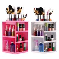 Rotating Make Up Organizer 360 Degrees Cosmetic Display Makeup Organizer Makeup Display Cosmetic Organizer Storage Display for Bathroom