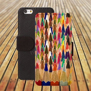 iphone 5 5s case dream colored pencils iphone 4/ 4s iPhone 6 6 Plus iphone 5C Wallet Case,iPhone 5 Case,Cover,Cases colorful pattern L149