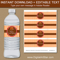 Thanksgiving Printables - Thanksgiving Party Printables - Thanksgiving Water Bottle Label Template - Thanksgiving Water Bottle Stickers T5