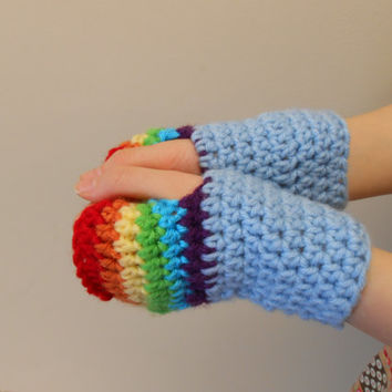 My Little Pony Crocheted Fingerless Gloves - Perfect accessory to  My MLP Hats, Birthday Gifts, Brony Gifts