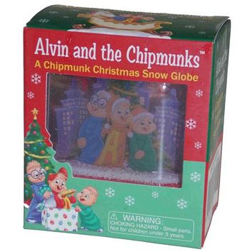 Alvin and the Chipmunks Chipmunk Christmas Snow Globe Lot 2 Ross Bagdasarian