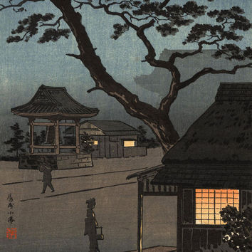 Yamato-e Art Printed on Canvas for Japanese Painting Home and Office Decor Without Frame