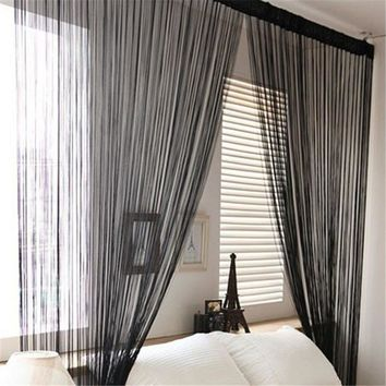 String Tassel Panel Curtain Room Divider Door Hanging 1m x 2m Window Curtain