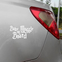 """Baby Muggle on Board ""Cute Harry Potter Car Decals Funny Car Sticker For Car Decoration Free Shipping"