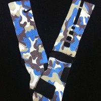 """Sky Camouflage"" Custom Nike Elite Socks from GotElites"