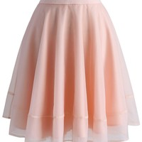 Turely Tulle A-line Skirt in Pink