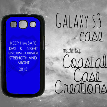 Thin Blue Line Quote Custom Badge Number Samsung Galaxy S3 Hard Plastic or Rubber Cell Phone Case Cover Original Design