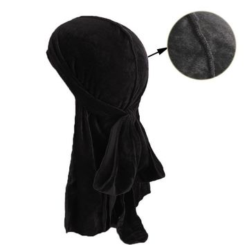 Muslim Men Women Bandana Turban Hat Wigs velvet doo Durags headwrap chemo cap Biker Headwear Headband Pirate Hair Accessories
