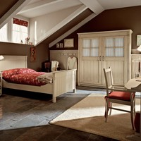 Fitted wooden bedroom set English Mood Collection by Minacciolo