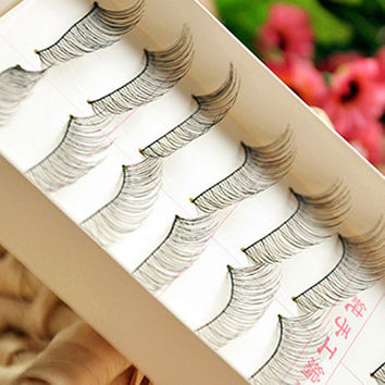 Sexy Hot Deal Thick Long Hot Sale Handcrafts Natural 10-pairs False Eyelashes [6533116679]
