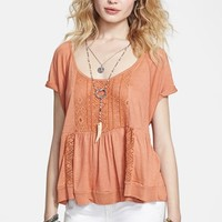 Free People 'Hazy Highlands' Beaded Peplum Top | Nordstrom
