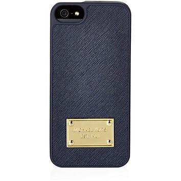 michael kors leather iphone 5 5s case from harrods tech. Black Bedroom Furniture Sets. Home Design Ideas