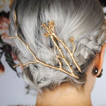 Fashion hairpin simple metal branch hairpin