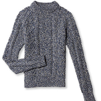 Women's Signature Cotton Fisherman Sweater, Marl | Free Shipping at L.L.Bean