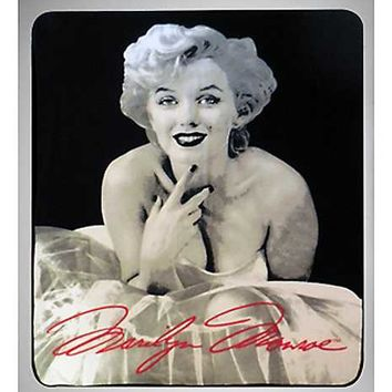 White Dress Marilyn Monroe Fleece Blanket - Spencer's