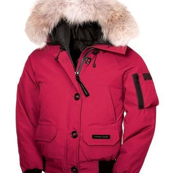 Canada goose chilliwack bomber winter WOMEN Down jacket/pink