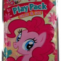 Lot 5 My Little Pony Play Pack Grab & Go Coloring Book Crayons Stickers Favors