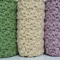 Cotton Crocheted Washcloth / Dishcloth