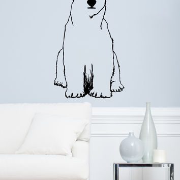 Vinyl Wall Decal Sticker Polar Bear #OS_MB735