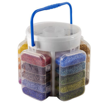 Darice® Five-Sided Portable Bead Caddy Kit