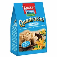 Loacker Quadratini Vanilla Wafer Cookies 8.8 oz