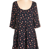 Boho Mid-length 3 Hooray for Bouquets Dress