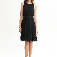 BR Monogram accordion-pleat dress | Banana Republic