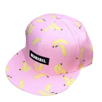 New Fruit pattern Kids Fashion Caps Children Boys Girls Baseball Caps Adjustable Hip Hop Snapback Sun Caps Summer Hat#3546 SM6
