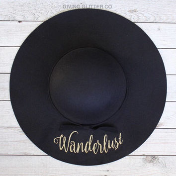 Wanderlust // Floppy Hat - Cute Hat - Travel Hat - Custom Hat