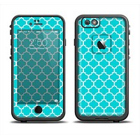 The Teal And White Seamless Morocan Pattern Apple iPhone 6 LifeProof Fre Case Skin Set