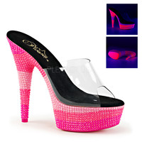 Hot Pink Rave Shoes 6 Inch Neon UV Reactive Plarforms