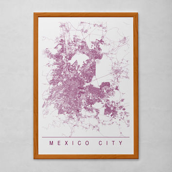 MEXICO CITY MAP - High Quality Giclee Print, Minimalist Mexico City Art Print, Customizable City Map, Modern Map Art
