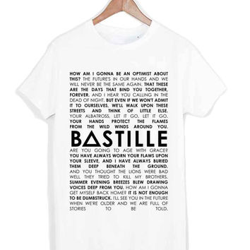 Bastille Lyrics Quote tshirt for merry christmas and helloween