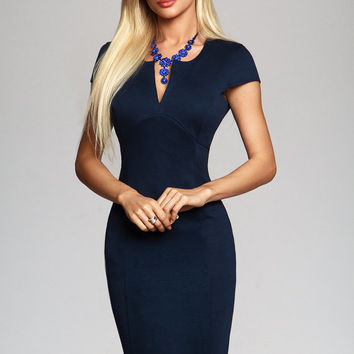 Navy dress, Bodycon dress, party dress, sheath dress, casual dress, pencil dress, sexy dress, midi dress, little black dress, knee length