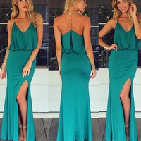 Just A Hint of Teal Maxi