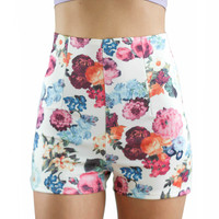 No Ordinary Girl Floral Print Shorts