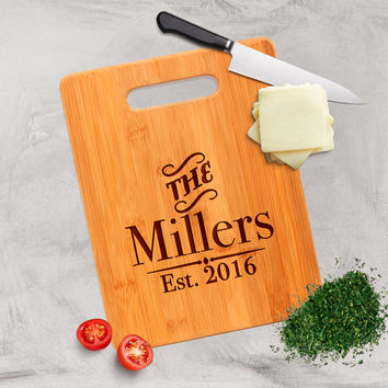 Personalized Bamboo Cutting Board - Personalized Anniversary Gift - Custom Cutting Board