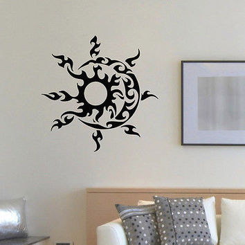 WALL DECAL VINYL STICKER SUN AND MOON DUET SYMBOL ETHNIC DECOR SB801