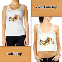 Calvin And Hobbes ed4260 Custom Woman Crop Tank , Woman Tank Top , Man Tank Top