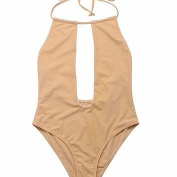Keyhole One Piece Bathing Suit