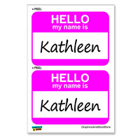 Kathleen Hello My Name Is - Sheet of 2 Stickers