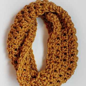 Infinity Scarf - Mustard - over sized - hooded - cowl - big -chunky - winter cowl - Infinity scarf - crochet scarf - cozy - big - gif