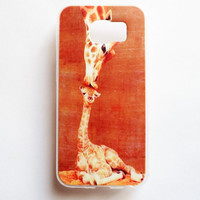 Samsung Galaxy S6 Giraffe Case Soft Plastic Galaxy S6 Back Cute Samsung S6 Cover
