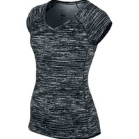 Nike Women's Miler Printed Short Sleeve Running Shirt