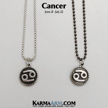 CANCER Necklace | Zodiac | Astrology Collection: Stainless Steel | Birth Sign Jewelry