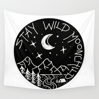 Stay Wild Moonchild Wall Tapestry by Shashira Handmaker