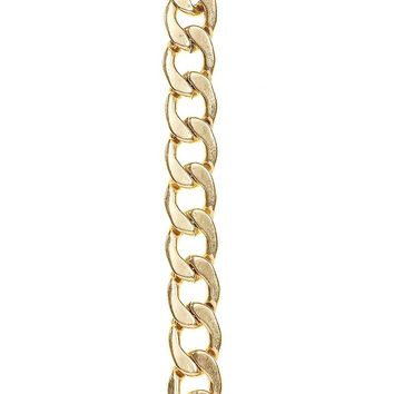 Lucky Brand Link Chain Bracelet Womens - Medium Dark Yellow (One Size)