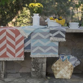 Chevron Turkish Cotton Towel Pestemal